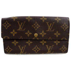 Authentic Louis Vuitton Sarah Long Bifold Wallet